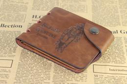 À double bourse de portefeuille à vendre-Retro Vintage Style Brand New Men Crazy Horse Leather Wallet deux doubles poches multiples Porifère Purse ZDZ Hunter * 1