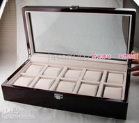 Wholesale Ten watch Exhibitions Collection Wood Box