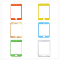 For Apple iPhone YL-001  Colorful High Quality Front Screen Glass Replacement For iPhone 5 5C 5S Free Shipping