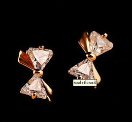 Beautiful bow Earrings luxurious stud earring charm jewelry wedding ornament earring factory price free shipping