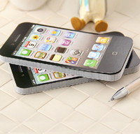 Wholesale 115 mm Iphone4 Design Note Book Memo Pad Pocket Diary Notepad Office Decoration SH221