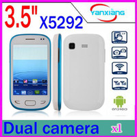 Wholesale DHL Feiteng X5292 Android Phone inch TouchScreen SC6820 GHz MB RAM WiFi Bluetooth Dual SIM GSM phones RW PH