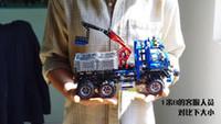 Wholesale 3pcs DECOOL LARGE Exploiture Crane model Enlighten Plastic building blocks sets educational children toys