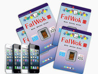 Wholesale Nano FalWok CS Unlock sim card for iPhone S C Work G G Use EDGE Internet With all carrier without jailbreak have activation code