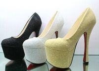 Fashion 16CM Super- High Heels Shoes Model T Catwalk Shows Wa...