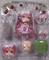 Wholesale Cute Nendoroid Vocaloid Hatsune Miku Sakura Pink Action Figure inch Model Collection