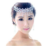 Wholesale 2013 Crystal Bridal Hair Jewelry Rhinestone Headbands Necklace Wedding Hair Accessories Pageant Quinceanera Tiara Crown