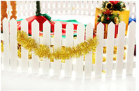 Wholesale 2013The Christmas Tree Fence Brown and White Wooden Fence Christmas Home Decorations Ornaments