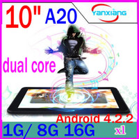 Wholesale DHL New Arrival Allwinner A20 Daul Core Cortex A8 android dual camera hdmi inch Tablet PC RW MID