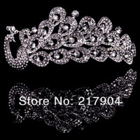 Wholesale Fashion Plated Alloy phoenix headband bridal combs wedding hair ornament tiara hair comb in