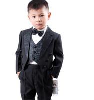 Mariage de luxe garçons convient Groom Smokings costume formel Parti Tuxedo Costume Veste + Pantalon + noeud papillon + Vest + chemises Dress Suit 5 pcs Set # 3458