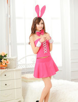 Wholesale 2013 new pink uniforms Bunny Rabbit Costume party christmas costume dress cheerleader costume DS sexy