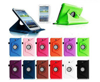 Wholesale For Samsung P3200 Galaxy tab3 Leather case rotating cases smart cover PU P3210 tab T210 inch tablet case MOQ