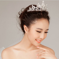 Band Rhinestone/Crystal  Shining Wedding Bridal Crystal Veil Tiara Crown Headband