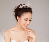 Crown Rhinestone/Crystal  Shining Wedding Bridal Crystal Veil Tiara Crown Headband