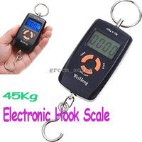 Hanging Scale <50g 45Kg Digital 45kg Double Precision Hook Pocket Electronic Fishing Hanging Weight Digital Scale,Freeshipping dropshipping wholesale