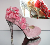 Best Sparkling Flowers Diamond Wedding Women's Dress Shoes 2...