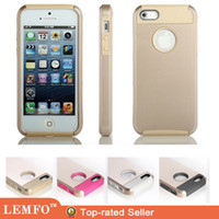 Wholesale Gold Case Shockproof Dirt Dust Proof Hybrid Rubber Rugged Combo Matte Cover Case For iPhone5 iPhone S G