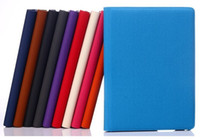 Wholesale Denim Rotary Stand Case for iPad Air with Card Slot Function Jeans Cloth Degree Folio Pouch Cover Free DHL