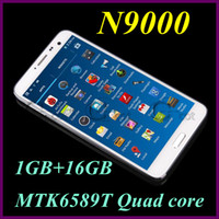 5.7 Android 1G N9000 NOTE 3 android cell Phone MTK6589T Quad Core 1GB RAM 16GB ROM 5.7Inch 1.5GHz FHD Screen 13.0MP Android 4.2 OS 3G WCDMA GPS smartphone