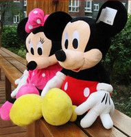 Wholesale free ship children baby MICKEY MINNIE MOUSE doll plush toy pillow doll Stuffed Toys birthday gift