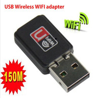 USB 128Kbps Wireless Wholesale - Mini 150M USB WiFi Wireless Network Card 802.11 n g b LAN Adapter,Free Shipping+Drop Shipping