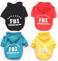 Wholesale 50pcs or Brand new autumn and winter pet cotton clothes FBI dog keep warm clothes