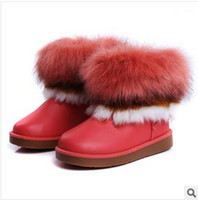 Winter Snow Boots Ankle Wenzhou boots wholesale free shipping the new 2013 girls boots fox fur waterproof boots in the warm
