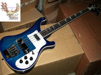 Wholesale Christmas promotion Model strings bass Blue electric bass guitar HOT SALE
