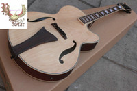 Wholesale Christmas promotion natural jazz Semi Hollow guitar with EQ pickups acoustic electric guitar Chinese guitar