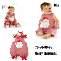baby boy rompers sale - Hot Sale Brand New Baby Christmas Sleeveless Rompers Infant Santa Claus Baby Holiday Bodysuits U Choose Boy Girl Free For T