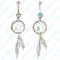 big dream catcher - colors Big Dream Catcher Belly Ring Jewelry Dangling Belly Button Rings Navel Ring Body Piercing Jewelry G