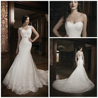 Trumpet/Mermaid Reference Images V-Neck Best selling V neck Mermaid Sweep Tulle Applique Lace Sexy lady Detachable Jacket Bridal gowns Wedding dresses