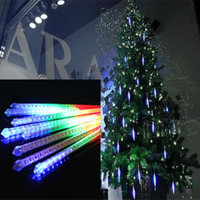 Wholesale Christmas set Snowfall Tube cm Meteor Rain Led Tube Light Power Adapter V