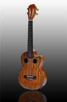 Wholesale New Arrival High Quality Handcraft koa Wood tenor Ukulele with free ukulele case