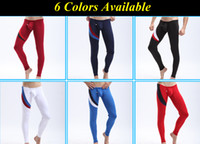 Men Spring/Autumn Trousers New Arrival!! Hot Splice Mens Sexy Thermal Underwear Long Johns Stretchy Warm Low Wasit Pouch Warm Winter Long Pants Trousers Leggings S M L