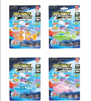 Wholesale Clown Robo Fish Magical Turbot Fish Magic Electronic Pet Fish Toys Chrildren Christmas Gifts New Packaging Colors DHL