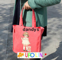 Wholesale Children s stationery K30 Kawaii paper doll series hand bag girl hand bag lunch tote Shopping bagdandys