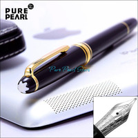 Wholesale PURE PEARL M High Quality Golden Clip Black Color Fountain Pen Without Original Box