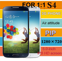 Wholesale Hot FOR i9500 S4 G Android smart phone inches HD screen million high definition HD camera real MTK6577 dual core
