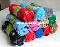 Wholesale Promotion pieces Lovely Design New Pet Dog Cat Paw Print Couture Fleece Blanket Mat Random Color