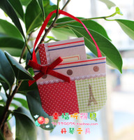 Wholesale Handbag Greeting Card with Envelope color ribbon bow decoration Pattern gift cards D Christimas Cards birthday card