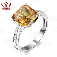 Solitaire Ring Other gems Ring, ring 8mm natural citrine diamond ring women rings platinum diamond jewelry custom authentic 10 minutes