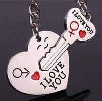 Promotion keyring - Arrow quot I love you quot Heart key Chain keyring keyfob lover keychain