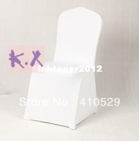 100% Cotton Yes Plain free shipping White spandex lycra chair cover for Wedding Party Banquet