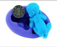Wholesale Silicone Handmade Soap Eu - Creative 3D Silicone Sleeping Baby Chocolate Molds Polymer Clay Handmade Soap Mold Fondant Cake Tools