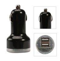 Wholesale 500pcs Dual Port USB Car Charger Adapter For MP3 MP4 mobile phone so on support USB charging of electrical equipment JBD B6