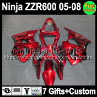 7gifts Custom Body black flames For KAWASAKI NINJA ZZR600 05...