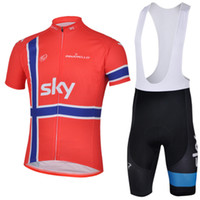 Wholesale Kits Clothing Sky Team Cycling Jerseys Pinarello Short Sets White Outdoor Discount New Arrival Bicycle Sportwear With Bid Jerseys C00S