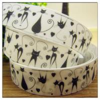 Wholesale mm Cartoon Halloween Series printed Grosgrain ribbon Polyester Cartoon Ribbon DIY haribow garment accessory CT0088
